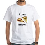 Pizza Queen White T-Shirt