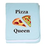 Pizza Queen baby blanket