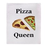 Pizza Queen Throw Blanket