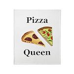 Pizza Queen Throw Blanket