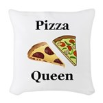Pizza Queen Woven Throw Pillow