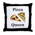 Pizza Queen Throw Pillow