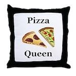 Pizza Queen Throw Pillow