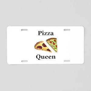 Pizza Queen Aluminum License Plate