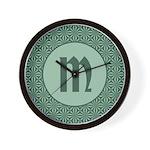 Living Waters Monogram Wall Clock