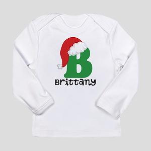 Christmas Santa Hat B Monogram Long Sleeve T-Shirt
