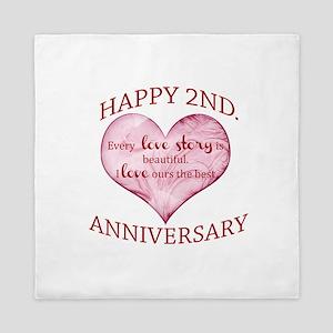 2nd. Anniversary Queen Duvet