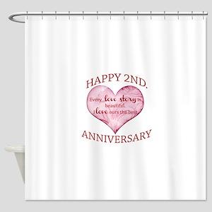 2nd. Anniversary Shower Curtain