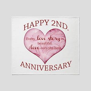 2nd. Anniversary Throw Blanket