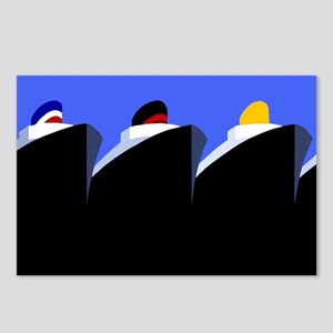 Vintage Cruise Ships Poster Ocean Liners Postcards