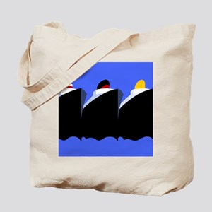 Vintage Cruise Ships Poster Ocean Liners Tote Bag