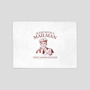 Sleep With A Mailman 5'x7'Area Rug