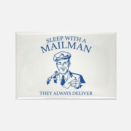Sleep With A Mailman Rectangle Magnet