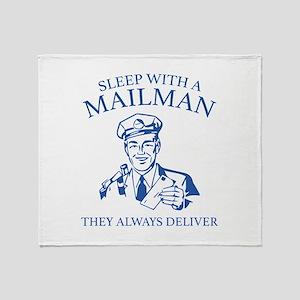 Sleep With A Mailman Stadium Blanket