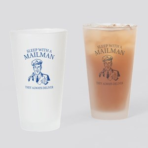 Sleep With A Mailman Drinking Glass