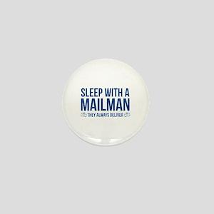 Sleep With A Mailman Mini Button