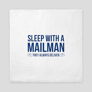 Sleep With A Mailman Queen Duvet