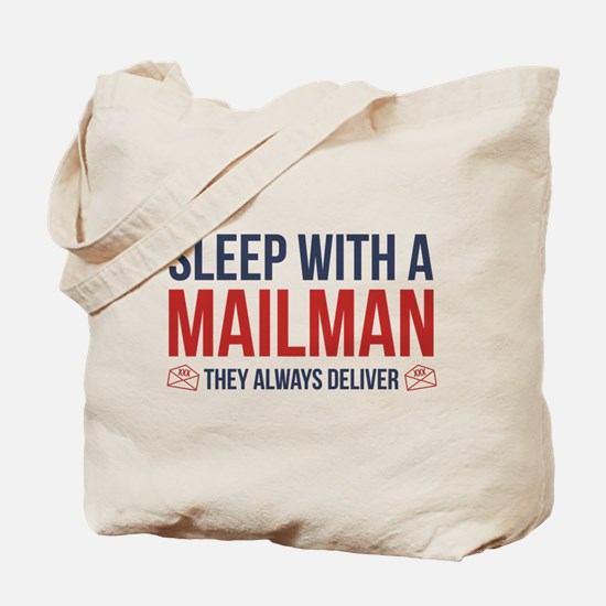 Sleep With A Mailman Tote Bag