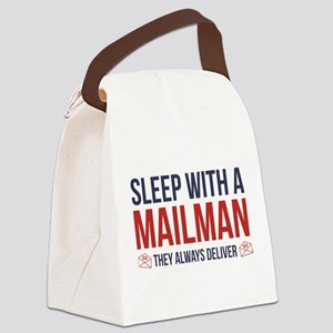 Sleep With A Mailman Canvas Lunch Bag