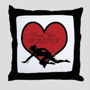 Thank You, MASTER. Throw Pillow
