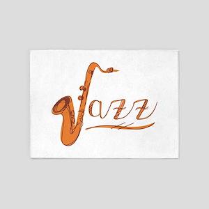 Jazz Sax 5'x7'Area Rug