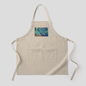 Iris, Vincent van Gogh. Vintage floral oil p Apron