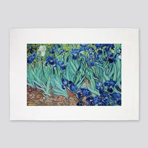 Iris, Vincent van Gogh. Vintage flo 5'x7'Area Rug