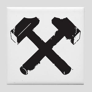 Crossed Hammers Tile Coaster