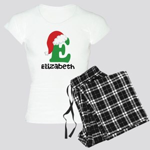 Christmas Santa Hat E Monogram Pajamas