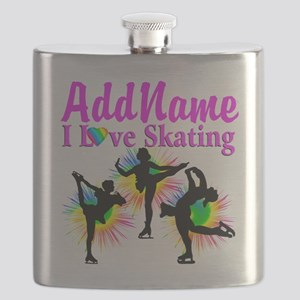 SKATING QUEEN Flask