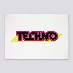 Techno 5'x7'Area Rug