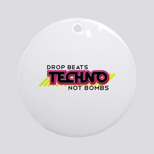 Beats Not Bombs Ornament (Round)