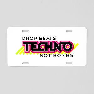 Beats Not Bombs Aluminum License Plate