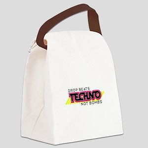 Beats Not Bombs Canvas Lunch Bag