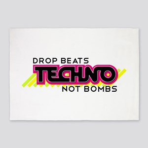 Beats Not Bombs 5'x7'Area Rug