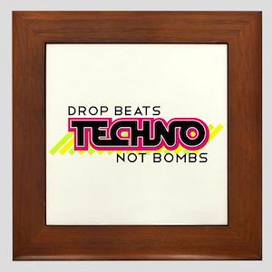 Beats Not Bombs Framed Tile