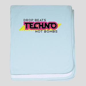 Beats Not Bombs baby blanket