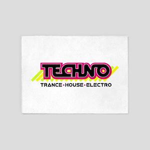 House Techno 5'x7'Area Rug