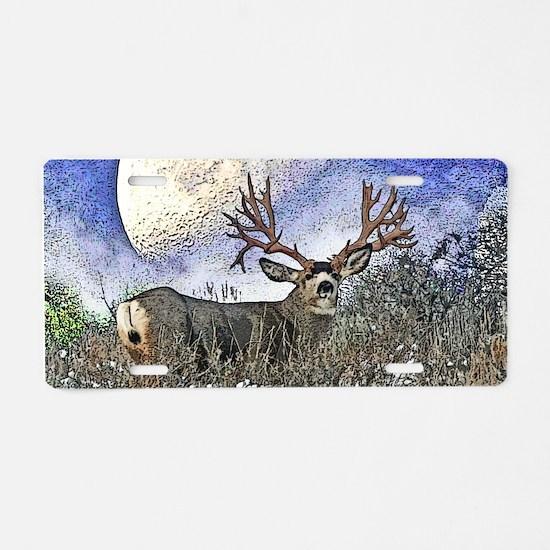 Trophy mule deer buck Aluminum License Plate