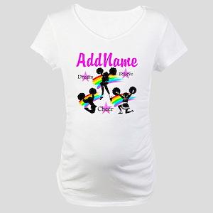 CHEERING GIRL Maternity T-Shirt