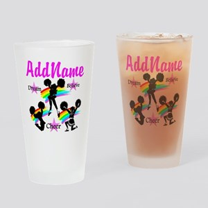 CHEERING GIRL Drinking Glass