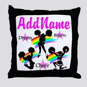 CHEERING GIRL Throw Pillow