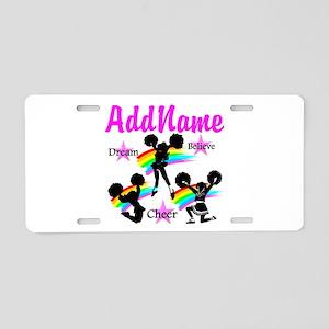 CHEERING GIRL Aluminum License Plate