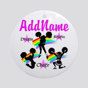 CHEERING GIRL Ornament (Round)