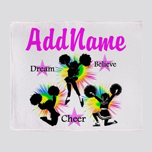 CHEERING GIRL Throw Blanket