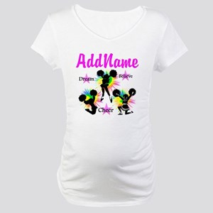 CHEERING GIRL Maternity T-Shirt