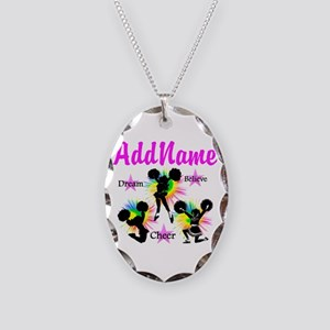 CHEERING GIRL Necklace Oval Charm