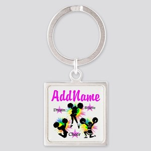 CHEERING GIRL Square Keychain
