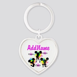 CHEERING GIRL Heart Keychain