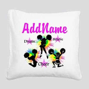 CHEERING GIRL Square Canvas Pillow